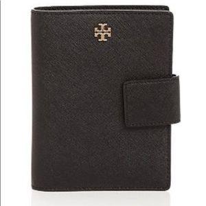 Tory Burch Emerson Passport holder, black leather